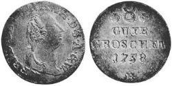 1 Groschen Principality of Anhalt-Zerbst (1544 - 1796) Silver Frederick Augustus, Prince of Anhalt-Zerbst (1734 – 1793)