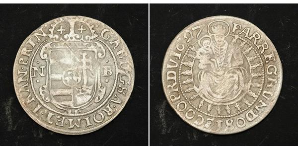 1 Groschen Principality of Transylvania (1571-1711) Silver Gabriel Bethlen, prince of Transylvania (1580-1629)