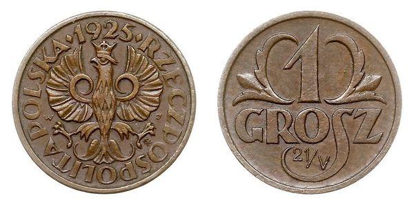 1 Grosh Segunda República Polaca (1918 - 1939) Cobre