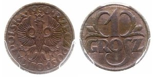 1 Grosh Second Polish Republic (1918 - 1939) Copper
