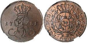 1 Grosh République des Deux Nations (1569-1795) Cuivre Stanislas II (1732 - 1798)