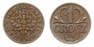 1 Grosh Zweite Polnische Republik (1918 - 1939) Kupfer