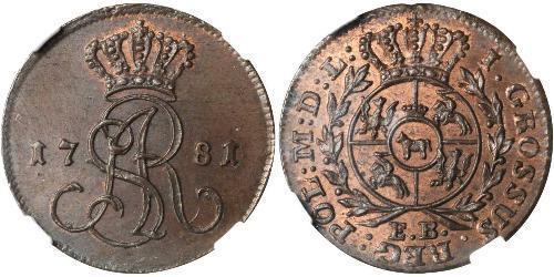 1 Grosh Confederazione Polacco-Lituana (1569-1795) Rame Stanislao II di Polonia (1732 - 1798)