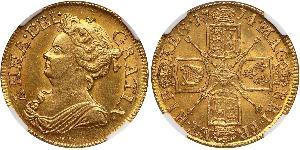 1 Guinea 大不列顛王國 (1707 - 1800) 金 安妮 (英国女王) (1665-1714)