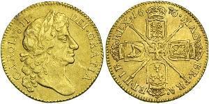 1 Guinea 英格兰王国 金 查理二世 (英格兰) (1630 - 1685)