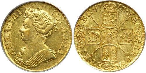 1 Guinea Kingdom of Great Britain (1707-1801) Gold Anne, Queen of Great Britain (1665-1714)