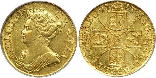 1 Guinea Regno Unito di Gran Bretagna (1707-1801) Oro Anna di Gran Bretagna(1665-1714)