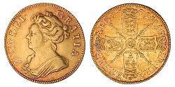 1 Guinea Reino de Inglaterra (927-1649,1660-1707) Oro Ana de Gran Bretaña(1665-1714)