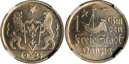 1 Gulden 但澤自由市 (1920 - 1939) 銀