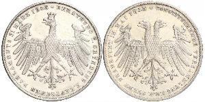 1 Gulden Ville libre de Francfort Argent