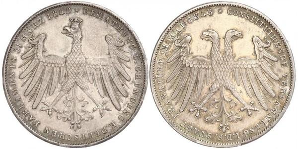 1 Gulden Città libera di Francoforte Argento