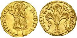 1 Gulden Austria  Gold Albert II of Austria (1298 - 1358)