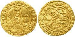 1 Gulden Böhmen Gold Karl IV, Römisch-deutscher Kaiser (1316-1378)