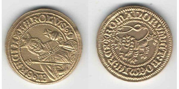 1 Gulden Bohemia Gold Charles IV, Holy Roman Emperor (1316-1378)