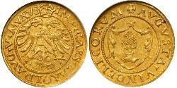 1 Gulden Heiliges Römisches Reich (962-1806) / Augsburg (1276 - 1803) Gold Karl V, Römisch-deutscher Kaiser (1500-1558)