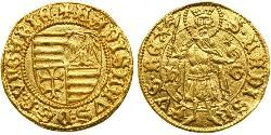 1 Gulden Königreich Ungarn (1000-1918) Gold Ladislaus the Posthumous of Hungary (1440 -1457)