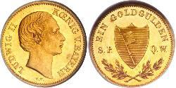 1 Gulden Kingdom of Bavaria (1806 - 1918) Gold Ludwig I of Bavaria (1786 – 1868)