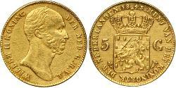 1 Gulden Kingdom of the Netherlands (1815 - ) Gold