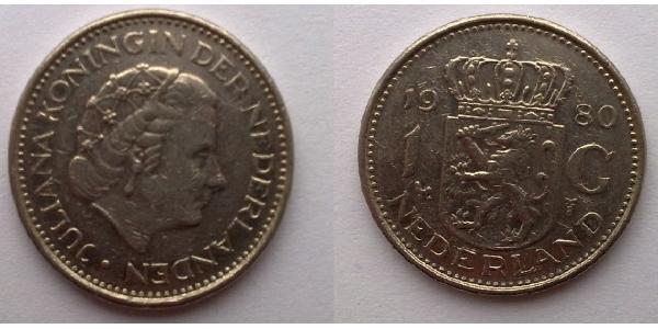 1 Gulden Regno dei Paesi Bassi (1815 - ) Nichel Juliana of the Netherlands (1909 – 2004)