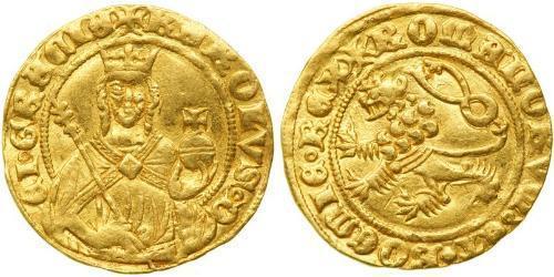 1 Gulden Bohemia Oro Carlos IV, Emperador del Sacro Imperio Romano (1316-1378)