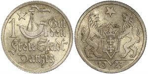 1 Gulden Gdansk (1920-1939) Plata