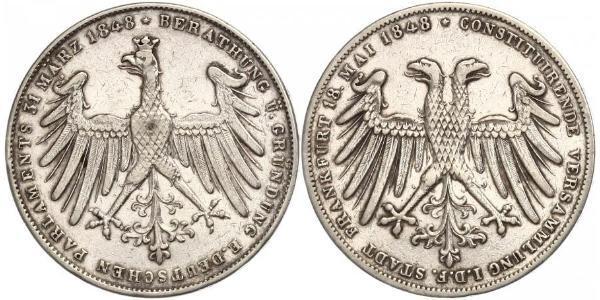 1 Gulden Freie Stadt Frankfurt Silber