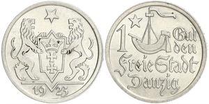 1 Gulden Gdansk (1920-1939) Silber