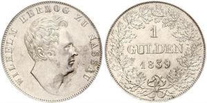 1 Gulden Herzogtum Nassau (1806 - 1866) Silber Wilhelm I. (Nassau)