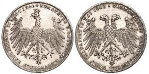 1 Gulden Free City of Frankfurt Silver