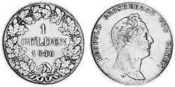 1 Gulden Grand Duchy of Baden (1806-1918) Silver