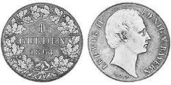 1 Gulden Kingdom of Bavaria (1806 - 1918) Silver Ludwig II of Bavaria (1845 – 1886)