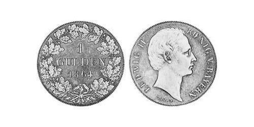 1 Gulden Kingdom of Bavaria (1806 - 1918) Silver Ludwig II of Bavaria (1845 – 1886)