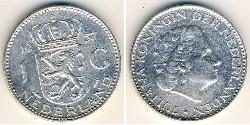 1 Gulden Kingdom of the Netherlands (1815 - ) Silver Wilhelmina of the Netherlands (1880 - 1962) / Juliana of the Netherlands (1909 – 2004)