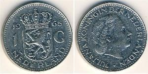 1 Gulden Kingdom of the Netherlands (1815 - ) Silver Wilhelmina of the Netherlands (1880 - 1962) / Juliana of the Netherlands (1909 – 2004)