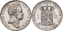 1 Gulden Netherlands Silver William I of the Netherlands (1772 - 1843)