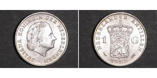1 Gulden Netherlands Antilles (1954 – 2010) Silver Juliana of the Netherlands (1909 – 2004)