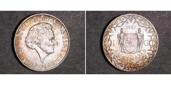 1 Gulden Suriname Silver Juliana of the Netherlands (1909 – 2004)