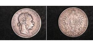 1 Gulden / 1 Florin Autriche-Hongrie (1867-1918) Argent Franz Joseph I (1830 - 1916)