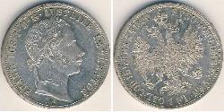 1 Gulden / 1 Florin Impero austriaco (1804-1867) Argento Franz Joseph I (1830 - 1916)