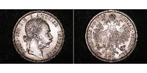 1 Gulden / 1 Florin Austria-Hungary (1867-1918) Silver Franz Joseph I (1830 - 1916)