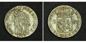 1 Gulden / 20 Stiver 荷兰王国 銀