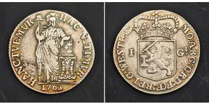 1 Gulden / 20 Stiver Regno dei Paesi Bassi (1815 - ) Argento
