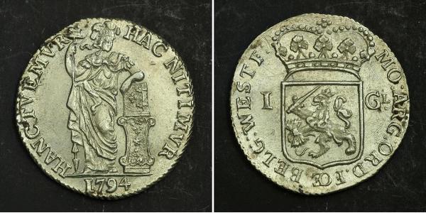 1 Gulden / 20 Stiver Reino de los Países Bajos (1815 - ) Plata
