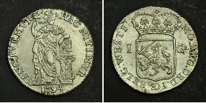 1 Gulden / 20 Stiver Kingdom of the Netherlands (1815 - ) Silver