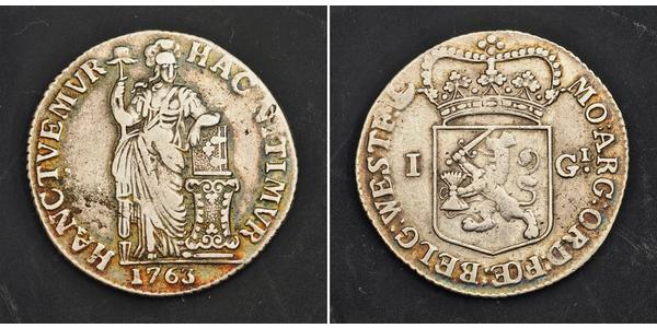 1 Gulden / 20 Stiver Kingdom of the Netherlands (1815 - ) Silver