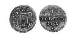 1 Heller Imperial City of Augsburg (1276 - 1803) Copper