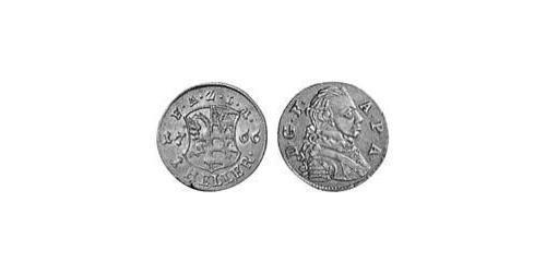 1 Heller Principality of Anhalt-Zerbst (1544 - 1796) Copper Frederick Augustus, Prince of Anhalt-Zerbst (1734 – 1793)