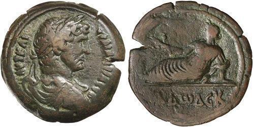 1 Hemidrachm Egitto (provincia romana) (30BC – 641)  Adriano (76 - 138)