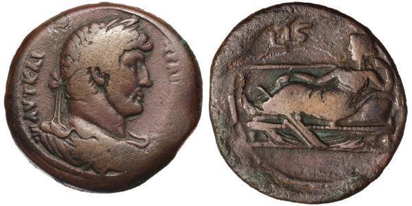 1 Hemidrachm Roman province of Aegyptus (30BC – 641)  Hadrian  (76 - 138)
