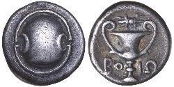 1 Hemidrachm / 1 Статер Беотія Срібло